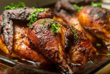 Cooking Peruvian Halved Chicken