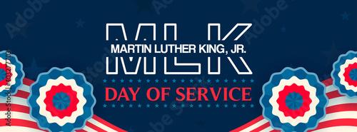 Obraz Martin Luther King Jr. Day Of Service Banner Vector illustration. Happy MLK Day - fototapety do salonu