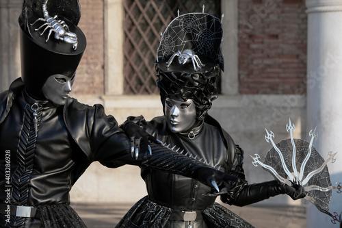 Leinwand Poster Karneval in Venedig
