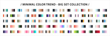 Fashion Minimal Color Trend Set. Color Palette Swatches Vector Design. Forecast Of The Future Color Trend. Trendy Colors Of New Season. Vector EPS 10.