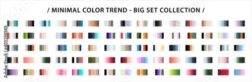 Fashion Minimal Color trend set Fototapet