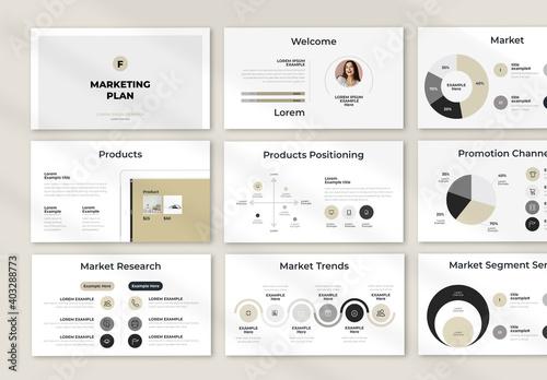 Fototapeta Marketing Plan Presentation Layout obraz