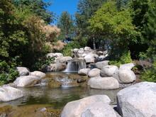 Waterfall Rock Garden In Kelowna BC.