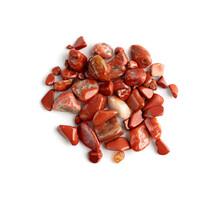 Jasper Pebbles Isolated, Red Sardonyx Polished Stones