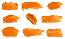 Collection Of Orange Swatches Isolated On A White Background