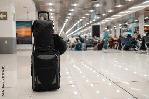 Canvastavla maletas de viaje en el aeropuerto