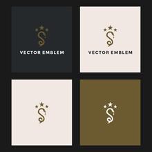 Letter S Snake Logo Vector Design Template
