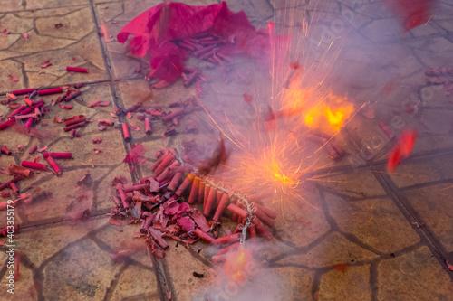 Photo Explosions de pétards du 14 juillet