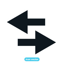 Arrows Icon Template Color Editable. Arrows Symbol Vector Illustration For Graphic And Web Design.