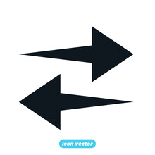 Arrows Icon Template Color Editable. Arrows Symbol Vector Illustration For Graphic And Web Design.