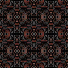 Abstract Patterns Of Ancient Hieroglyphs Multi-colored.Texture Or Background