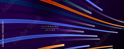 Obraz Abstract colorful lines vector background. Internet, big data and technology connections concept, abstract template - fototapety do salonu