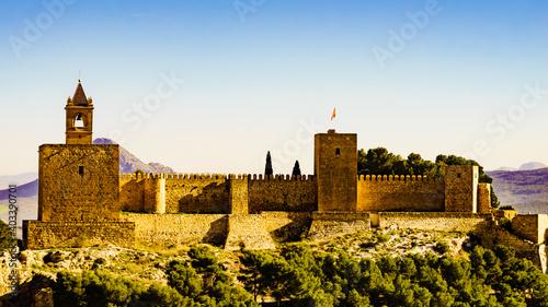Canvastavla The Alcazaba fortress in Antequera, Spain.