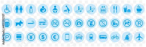 illustration of sign  icon set vector Fototapet