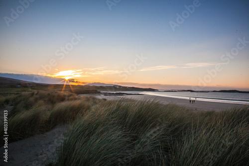 sunset over the irish sea Fototapet