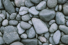 Gray Pebble Stone Or River Stone Background