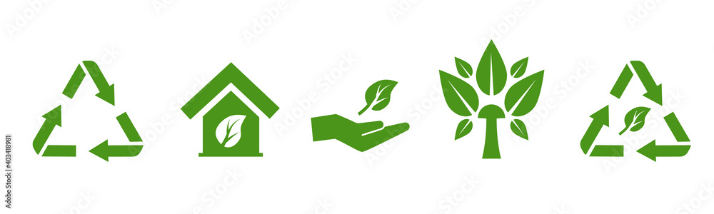 Fototapeta Vector set of environmental icons