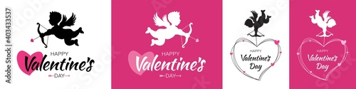 Tableau sur Toile Valentines day card
