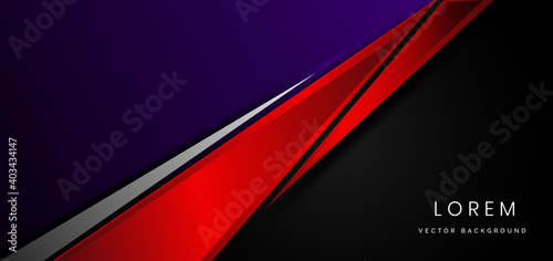 Obraz na plátně Template corporate concept red black purple and grey contrast background