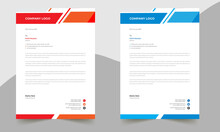 Letterhead Design Template A4 Size Print Ready With  Color Variation