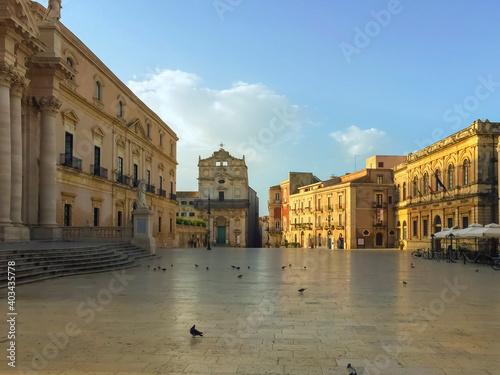 Fototapety, obrazy: Ortigia - Piazza Duomo