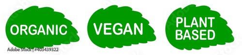 Fotografia Plant based vegan food product label