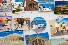 Souvenirs, Colourful Plaques Of Tourist Destinations In Greece.