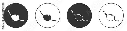 Obraz na plátně Black Pirate eye patch icon isolated on white background