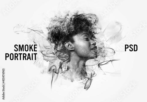 Obraz Smoke Portrait Effects - fototapety do salonu