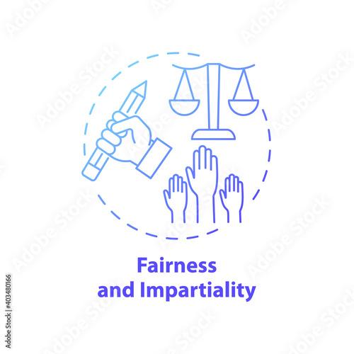 Fotografie, Obraz Fairness and impartiality concept icon
