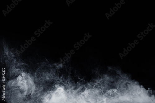 Fototapety, obrazy: Abstract white smoke moves on black background. Swirling smoke.