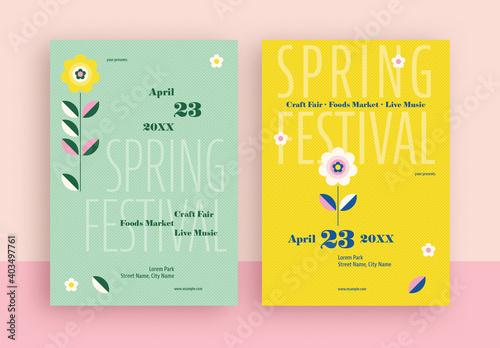 Obraz Spring Festival Flyer Layout - fototapety do salonu