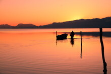 Wonderful Sunset Fishermen In Silifke Dalyan