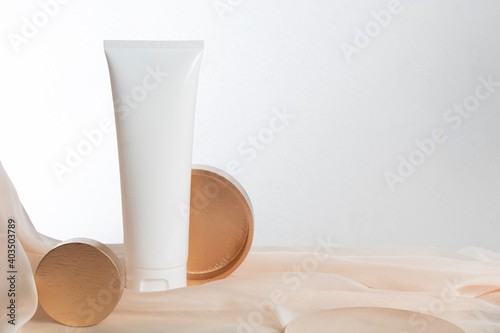 beauty fashion cosmetic makeup bottle lotion cream product with skincare healthcare concept on background