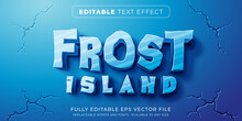 Editable Text Effect In Frost Ice Style