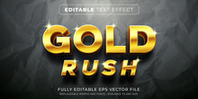 Editable Text Effect In Elegant Gold Style
