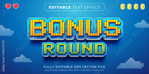 Editable text effect in arcade pixel game style Fototapete
