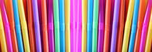 Panorama Colorful Drinking Straws.