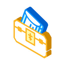 Donation For Church Isometric Icon Vector Illustration