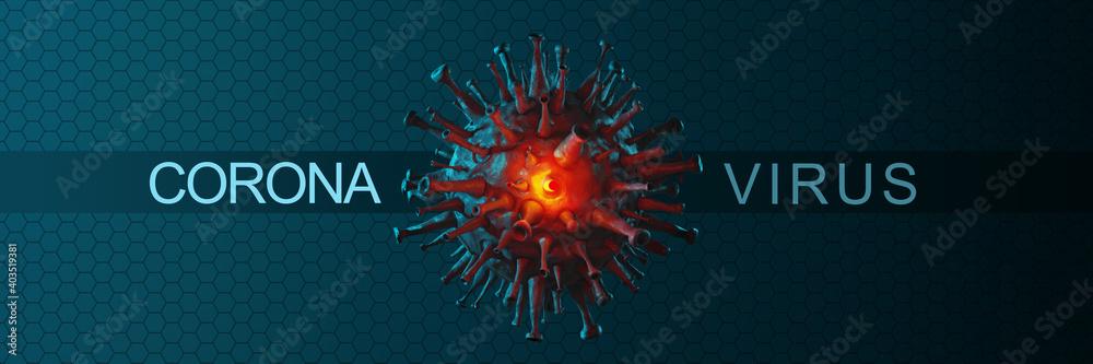 Fototapeta New covid-19 conoravirus outbreak. 3D illustration