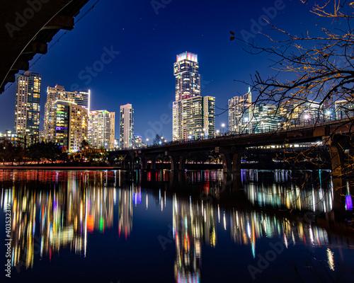 Photo country skyline at night