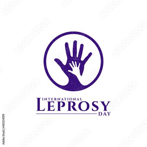 Canvas Print International leprosy day design vector