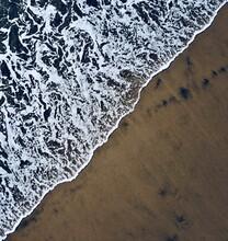 Ocean Water Coming Onto Beach