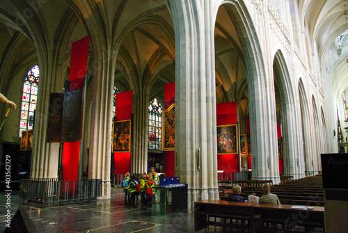 Interior of a church in Antwerp. Belgium. Fototapete