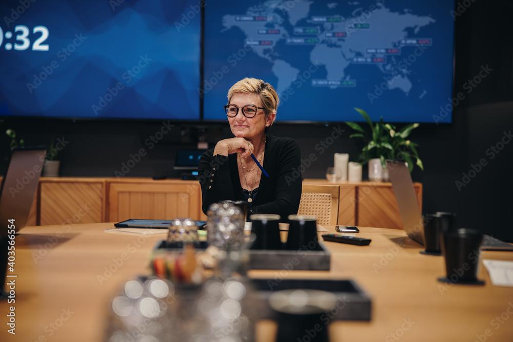 Fototapeta CEO in boardroom meeting
