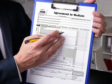 Business Concept About Form 13369 Agreement To Mediate With Inscription On The Page.