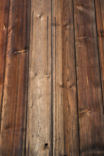 Background: Old Weathered Wood Texture With Figure And Knotholes, Brown
