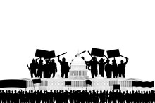Capitol Buildind Under Riots Attack