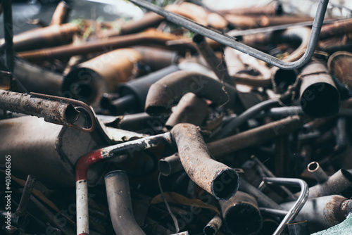 metal scrap for industry waste recycling, iron steel garbage trash