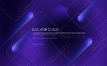 Blue Dark Geometric Background With Oblique Stripes With A Gradient, Light Square Frames